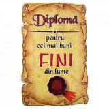 Magnet Diploma pentru cei mai buni FINI din lume, lemn, Alexer