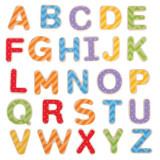 Set litere magnetice de tipar, 49 piese din lemn, 3 ani+, Bigjigs