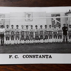 F.C. CONSTANTA - FOTOGRAFIE VECHE ALB NEGRU - PROBABIL ANII 1980