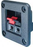 Conector boxe 2 pini, montare pe panou - 123654