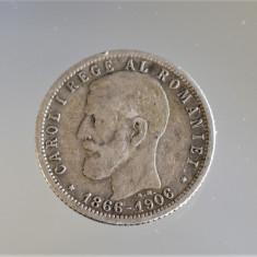 1 leu 1906 - 40 ani de domnie Carol I 1866 - 1906 - Moneda Argint Romania
