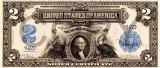 2 dolari 1899 Reproducere Bancnota USD , Dimensiune reala 1:1