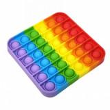 Jucarie Pop It, Patrat, Antistres, Senzoriala, Multicolora, Oem