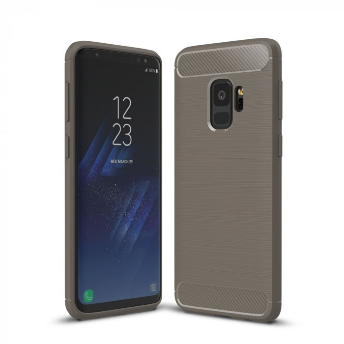 Husa SAMSUNG Galaxy S9 - Luxury Carbon TSS, Gri