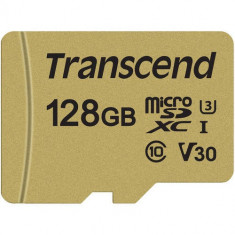 Card Transcend TS128GUSD500S microSDXC USD500S 128GB +Adaptor