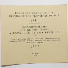 ROMANIA EXIL 1958 - CARNET FILATELIC MISCAREA LEGIONARA - TOTI EUROPENII UNITI
