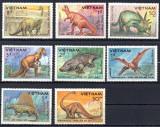 VIETNAM 1984, Fauna preistorica, Dinozauri, serie neuzata, MNH