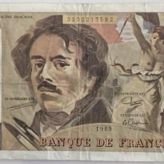 FRANTA 100 FRANCS/FRANCI 1989