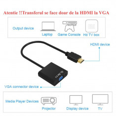 Convertor Video HDMI - VGA + Jack