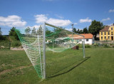 Poarta fotbal ALU, dimensiuni 7,32 x 2,44 m, cu plasa