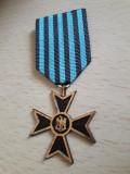 Medalie veteran razboi Crucea comemorativa al doilea razboi cu plic original