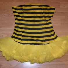 Costum carnaval serbare albina albinuta pentru adulti marime M-L, M/L, Din imagine