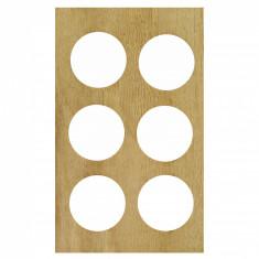 Suport din lemn pentru 6 oua