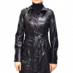 Haina dama, din piele naturala, marca Kurban, K04-01-95, negru