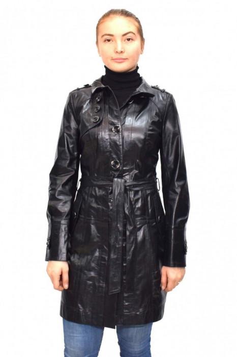 Haina dama, din piele naturala, Kurban, K04-01-95, negru