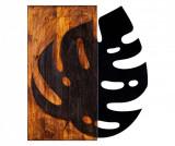 Decoratiune de perete Leaf - Skyler, Maro,Negru