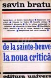 De la Sainte - Beuve la noua critica