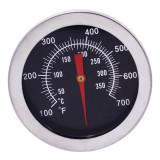Termometru alimentar pentru cuptor, analogic, metalic, termometru de insertie