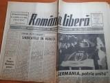 Ziarul romania libera 4 octombrie 1990-echipele de fotbal romanesti in cupele eu