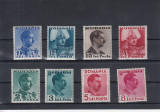 ROMANIA 1940  LP 140  CAROL II CULORI SCHIMBATE  SERIE  MNH