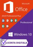 PACHET Licenta Windows 10 Pro / Office 2019 Pro Plus, Microsoft