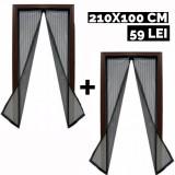 Set 2 perdele magnetice antiinsecte Magic Mesh 210 x 100 cm