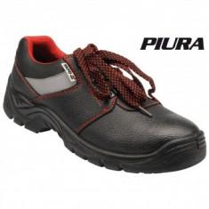 Pantofi de lucru din piele PIURA, clasa de protectie S3, marimea 41, negru, Yato YT-80554