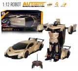 SUPER ROBOT DIN TRANSFORMERS,MASINA DE VITEZA SI ROBOT,TELECOMANDA,CADOU SUPER!, Plastic, Unisex