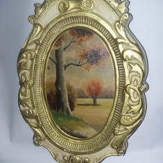 5 tablouri vechi pictate cu rame masive tip aplice de perete,picturi vechi,T.GRA