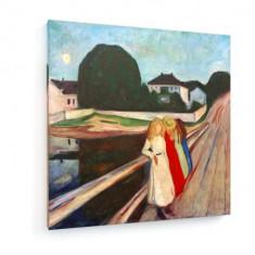 Tablou pe panza (canvas) - Edvard Munch - Four Girls on the Bridge 1905