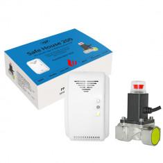 Resigilat : Kit PNI Safe House 200 senzor gaz si electrovalva 3/4 Inch
