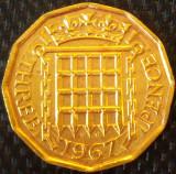 Moneda 3 (Three) PENCE - ANGLIA, anul 1967 *cod 2233 B, Europa