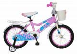 Bicicleta copii 12 FIVE Sunflora cadru otel culoare roz bleo roti ajutatoare varsta 2 4 ani