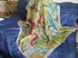 Batic esarfa matase naturala spuma, Multicolor