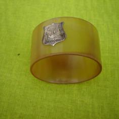 Deosebit inel pentru servetele cu sigla din argint 925