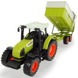 Cumpara ieftin Tractor Dickie Toys Claas Ares cu remorca 57 cm