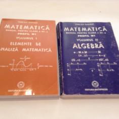 MIRCEA GANGA MATEMATICA MANUAL PENTRU CLASA A XII-A 2 VOLUME 2005--P1