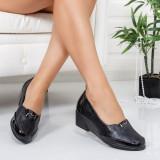 Pantofi Lumiva negri cu talpa ortopedica