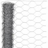 Nature Plasă din sârmă, 0,5 x 10 m, oțel galvanizat, 25 mm, hexagonal