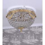 Plafoniera din alama masiva cu cristale CAT129G, Lustre