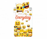 Set de pat Single Emoji Laugh Everyday
