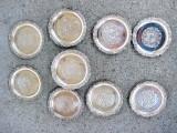 190A- Set 12 farfurioare  alpaca argintata central frumos gravate.
