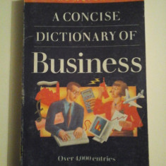 A CONCISE DICTIONARY OF BUSINESS