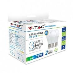 Bec LED E27 6W alb neutru V-TAC, G45 4000K 3buc/set