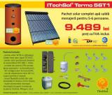 Pachet solar (kit) complet apa calda menajera pentru 5-6 persoane (ITechSol® ...