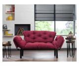 Canapea extensibila cu 2 locuri - FUTON, Rosu