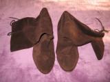 Cizme Bata piele naturala, lungi Mar 39,5/ 40, Piele intoarsa