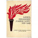 "Liceul pedagogic "" Vasile Lupu "" din Iasi"