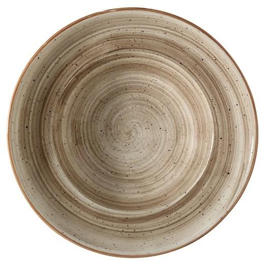 Farfurie GOURMET din portelan -TERRAIN 27cm adanca MN010138 BONNA
