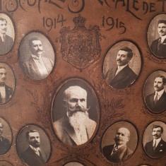 Fotografii ABSOLVENTII SCOLEI DE TRACTIUNE 1915 CFR album tablou antichitati